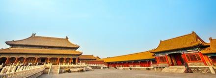 En la ciudad Prohibida en Pekín Imagenes de archivo