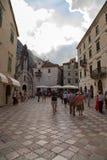 En la ciudad vieja de Kotor Fotografía de archivo libre de regalías