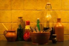 En la cocina Fotos de archivo libres de regalías