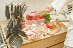 En la cocina Fotografía de archivo libre de regalías