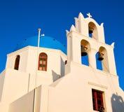 en la construcción de Grecia o ld del santorini y el cielo Fotos de archivo