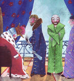 En la corte del rey stock de ilustración