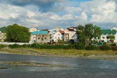 En la costa del río Fotos de archivo libres de regalías
