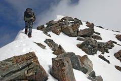 En la cresta de la montaña Titnuld fotografía de archivo libre de regalías