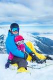 En la estación de esquí Fotografía de archivo