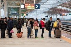 En la estación de tren Fotografía de archivo libre de regalías