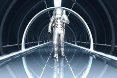 En la estación espacial Foto de archivo
