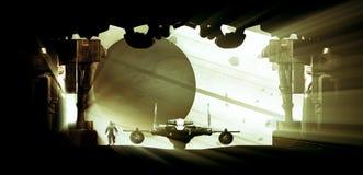 En la estación espacial stock de ilustración