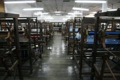 En la fábrica de seda Foto de archivo