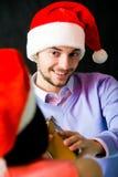 En la fiesta de Navidad fotos de archivo libres de regalías