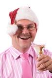 En la fiesta de Navidad de la oficina Fotografía de archivo