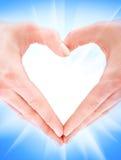 En la forma de corazón Imagen de archivo libre de regalías