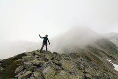 En la frontera entre la luz y la niebla Foto de archivo libre de regalías