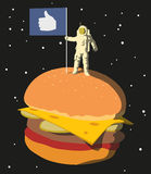 En la hamburguesa Fotografía de archivo libre de regalías