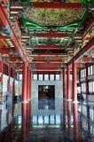 En la historia de la pintura de madera china Imagen de archivo libre de regalías