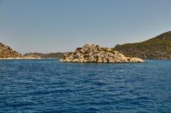 En la isla de Kekov, Turquía Imagenes de archivo