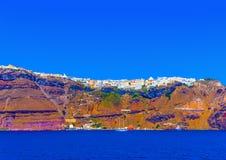En la isla de Santorini en Grecia imagen de archivo