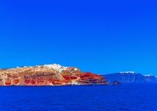 En la isla de Santorini en Grecia imagen de archivo libre de regalías