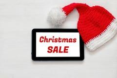 En la línea concepto de las compras del día de fiesta de la Navidad Fotografía de archivo