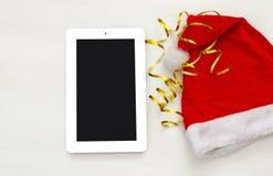 En la línea concepto de las compras del día de fiesta de la Navidad Fotografía de archivo libre de regalías