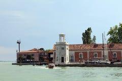 En la laguna de Venecia, Italia fotografía de archivo