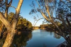 En la madrugada de Murray River Foto de archivo