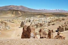 En la manera a Salar de Tara, Chile Imagen de archivo