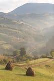 En la manera a través del campo precioso de Transilvania Imagen de archivo libre de regalías