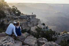 En la mirada hacia fuera en Grand Canyon fotografía de archivo