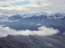 En la montaña de niebla Imágenes de archivo libres de regalías