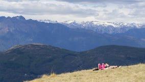 En la montaña Suiza de Monte Lema fotos de archivo