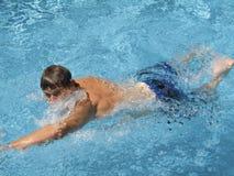 En la nadada Foto de archivo libre de regalías