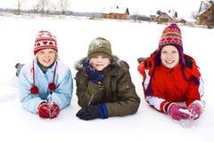 En la nieve Imagen de archivo