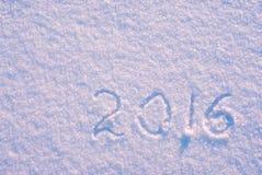 2016 en la nieve Imagen de archivo libre de regalías