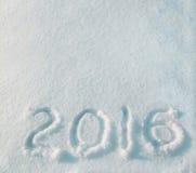 2016 en la nieve Foto de archivo libre de regalías