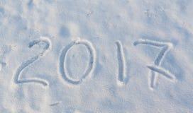 2017 en la nieve Imágenes de archivo libres de regalías
