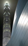 En la noche en Hong-Kong Fotografía de archivo libre de regalías