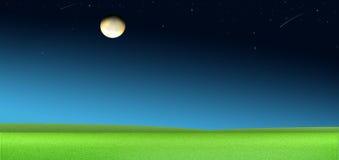 En la noche una pintura hermosa. Fotos de archivo
