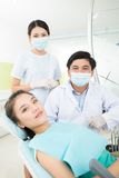 En la odontología Fotos de archivo