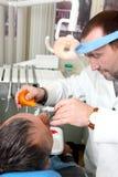 En la oficina del dentista Fotografía de archivo libre de regalías
