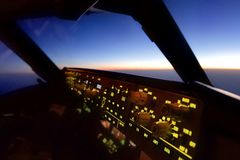 En la opinión de la carlinga del aeroplano del asiento experimental del Co fotografía de archivo