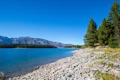 En la orilla de Jackson Lake imagen de archivo