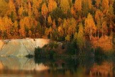 En la orilla del lago Fotografía de archivo