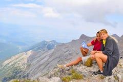 En la parte superior del monte Olimpo fotografía de archivo