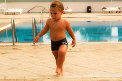 En la piscina Foto de archivo