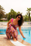 En la piscina fotos de archivo libres de regalías