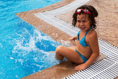 En la piscina Imagen de archivo