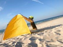 En la playa Foto de archivo libre de regalías