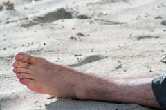 En la playa Fotografía de archivo