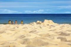 En la playa Imágenes de archivo libres de regalías